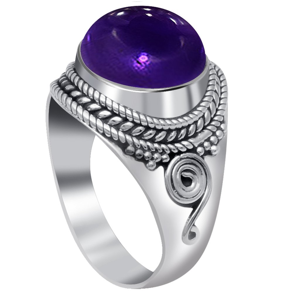 4-Ctw-Purple-Round-925-Sterling-Silver-Ring-OJR-15969A thumbnail 23