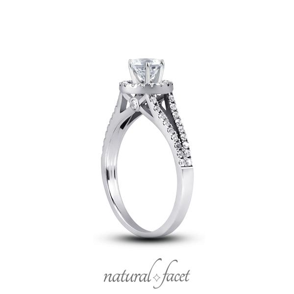 0-94ct-D-VVS1-Ideal-Round-Diamonds-Platinum-Cathedral-Split-Shank-Ring-Set-4-2mm thumbnail 2