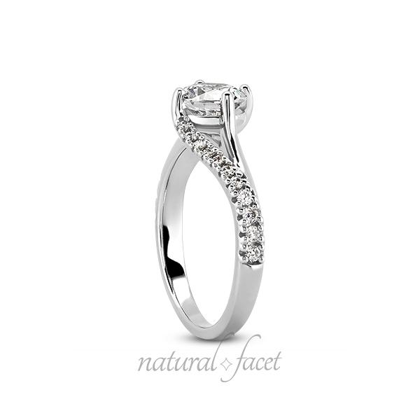 1.07ctw D VVS1 Ideal Round Diamonds Platinum Split Curved Shank Wedding Ring 2mm