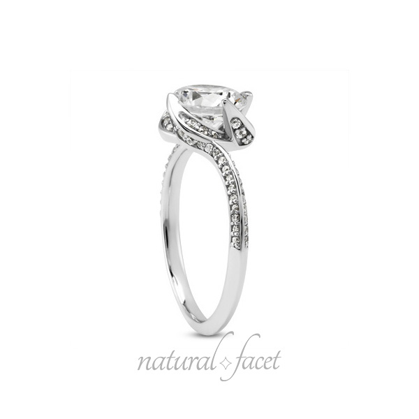 2.48ctw D VVS1 Ideal Round Diamonds 14k White gold Knife-Edge Wedding Ring 2mm