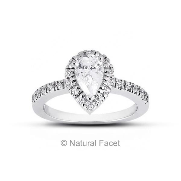 2.21ctw D VVS1 Ideal Cut Pear Diamonds 14k White gold Classic Accents Ring 1.9mm