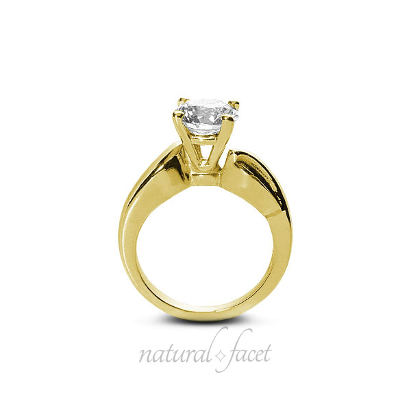 0-71ct-F-VS2-Ideal-Round-Natural-Diamond-Yellow-Gold-Engraved-Basket-Ring-4-2mm thumbnail 2