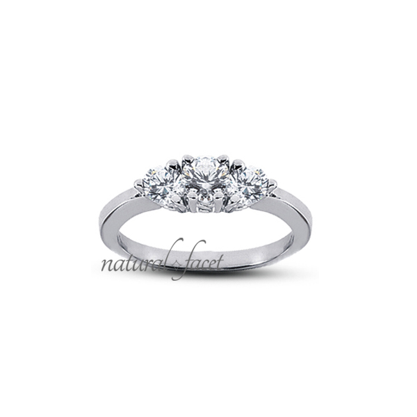 0.68 Carat D VVS1 Ideal Round Diamonds 14k White gold Classic Wedding Ring 2mm