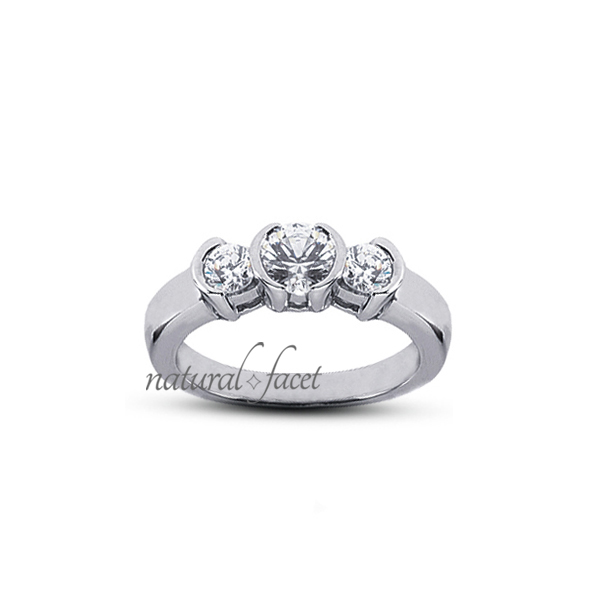 1.20ct tw D VVS1 Ideal Round Diamonds 14k gold Tension Basket Accents Ring 2.6mm