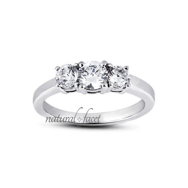 1 Carat D VVS1 Ideal Cut Round Diamonds 14k White gold Basket Accents Ring 1.9mm
