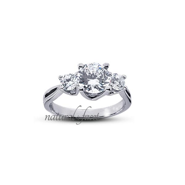 2.13 Carat D VVS1 Ideal Round Diamonds 14k White gold Vintage Wedding Ring 2.5mm