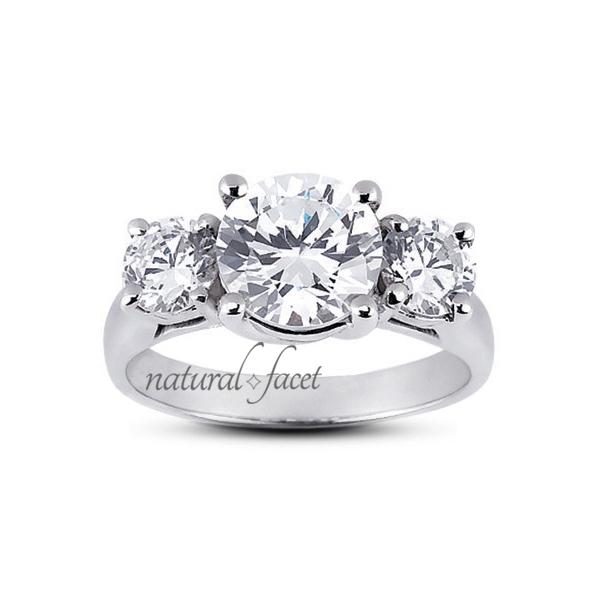 0.47 Carat D VVS1 Ideal Round Diamonds 18k White gold Classic Wedding Ring 2.2mm