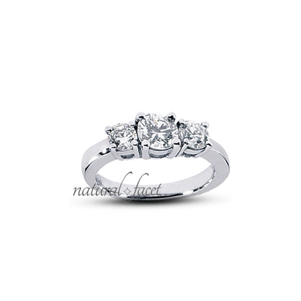 0.72ct tw D VVS1 Ideal Round Diamonds 14k gold Classic Basket Wedding Ring 2.5mm