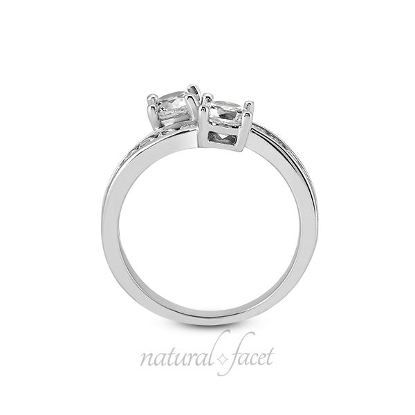 2.05 TCW D VVS1 Ideal Round Diamonds 18k gold Classic 2-Stone Wedding Ring 3.1mm