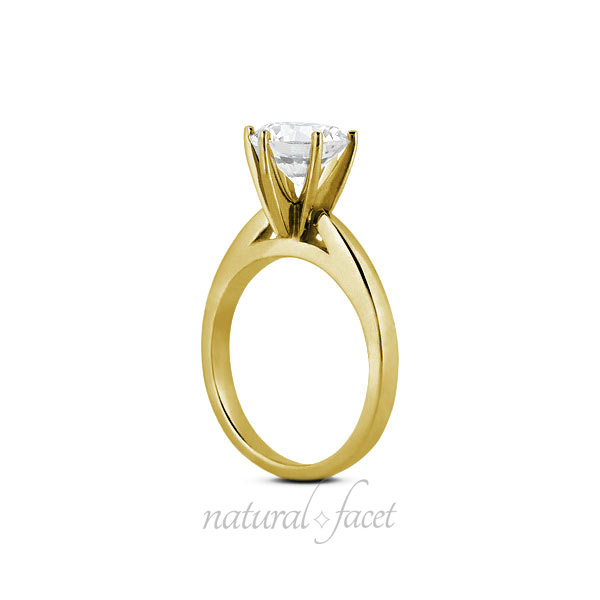 5.84 Carat D VVS1 Ideal Round Diamond Yellow gold Cathedral Solitaire Ring 2.2mm