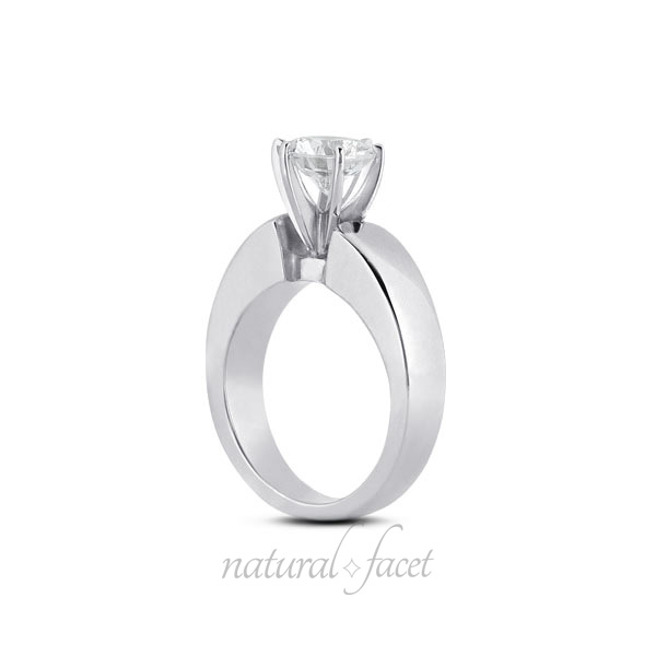 0.75 Carat D VVS1 V.Good Round Diamond White gold Classic Solitaire Ring 5.1mm