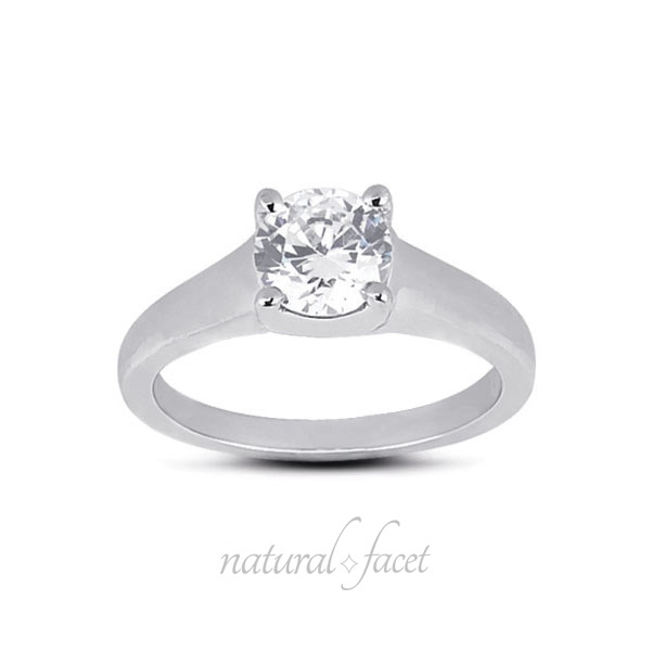 2.10 Carat D VVS1 Ideal Round Diamond White gold Trellis Solitaire Ring 3.7mm