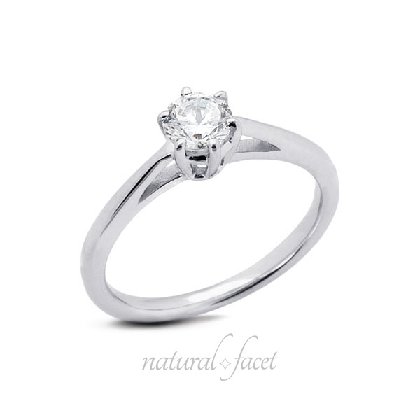 1.27 CT D VVS1 Very Good Round Diamond White gold Cathedral Solitaire Ring 2.1mm