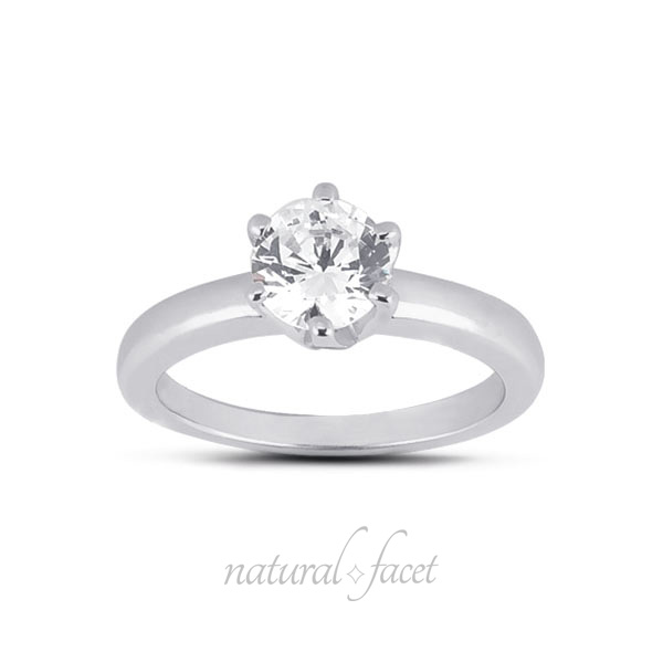 0.45 Carat D VVS1 Ideal Round Diamond White gold Crown Head Solitaire Ring 2.5mm
