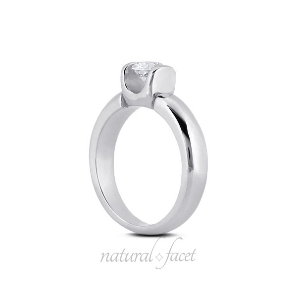 0.45 Carat D VVS1 Ideal Round Diamond White gold Classic Solitaire Ring 3.7mm