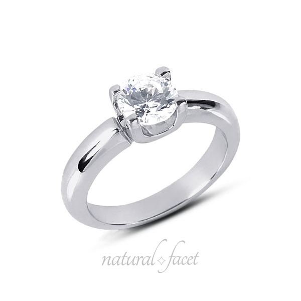 0.45 Carat D VVS1 Ideal Round Diamond White gold Classic Solitaire Ring 3.4mm