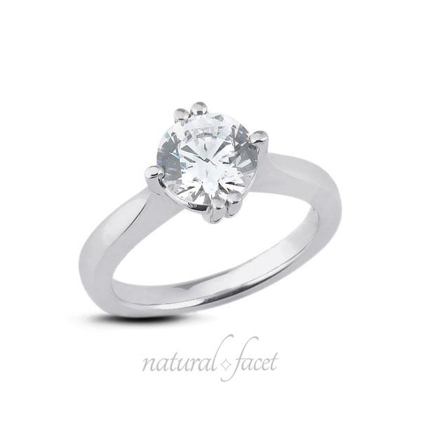 0.33 Carat D VS2 Ideal Cut Round AGI Certify Diamond Platinum Classic Ring 1.9mm