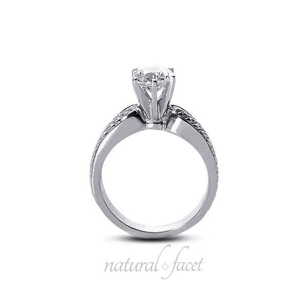 0.43ct G SI2 Very Good Round AGI Certified Diamond White gold Vintage Ring 4.4mm