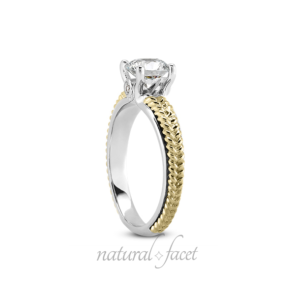 0.48ct tw J SI2 VG Round AGI Certified Diamonds gold Vintage Engraved Ring 3.8mm