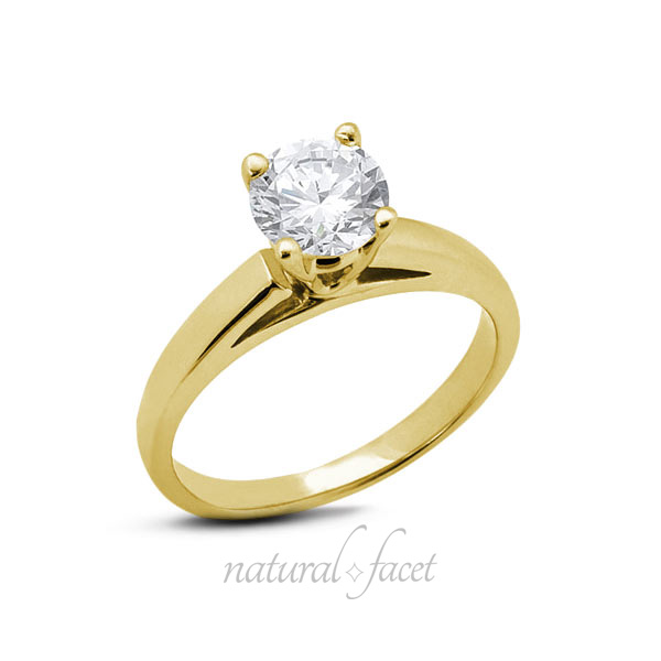0-61-CT-G-VS2-Ideal-Round-AGI-Certify-Diamond-Yellow-Gold-Cathedral-Ring-4-1mm thumbnail 3