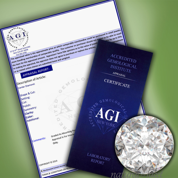 0-61-CT-G-VS2-Ideal-Round-AGI-Certify-Diamond-Yellow-Gold-Cathedral-Ring-4-1mm thumbnail 5
