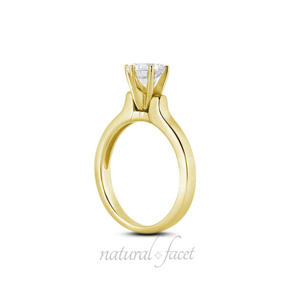 0-66-CT-F-VS2-Ideal-Round-AGI-Certified-Diamond-Yellow-Gold-Classic-Ring-4-6mm thumbnail 3