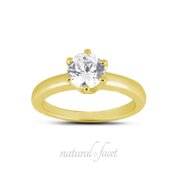 0-73ct-G-VS2-Ideal-Round-AGI-Certified-Diamond-Yellow-Gold-Crown-Head-Ring-2-9mm thumbnail 2