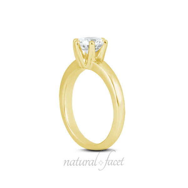 0-73ct-G-VS2-Ideal-Round-AGI-Certified-Diamond-Yellow-Gold-Crown-Head-Ring-2-9mm thumbnail 3