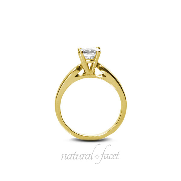0-80-CT-J-VS2-Ideal-Round-AGI-Certify-Diamond-Yellow-Gold-Cathedral-Ring-5-2mm thumbnail 2