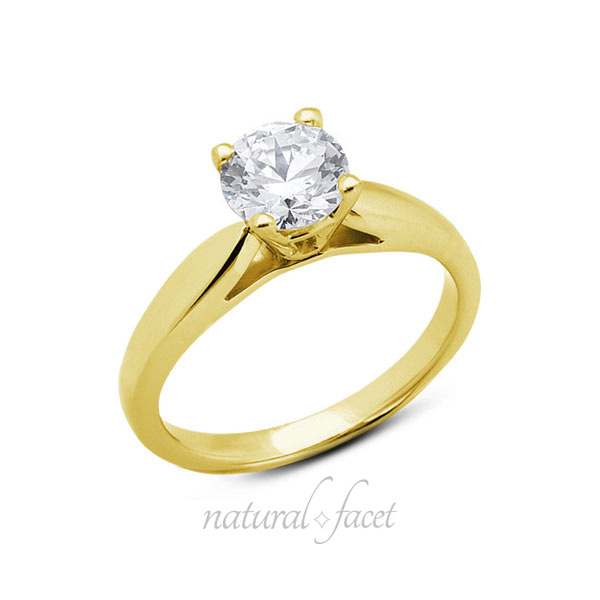 0-80-CT-J-VS2-Ideal-Round-AGI-Certify-Diamond-Yellow-Gold-Cathedral-Ring-5-2mm thumbnail 3