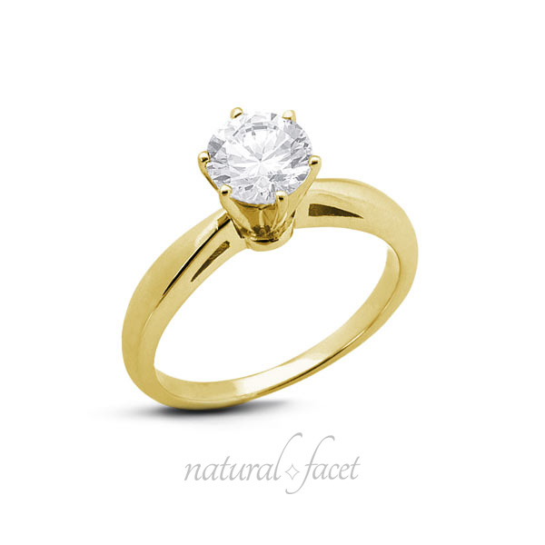 0-81-CT-J-VS2-Ideal-Round-AGI-Certify-Diamond-Yellow-Gold-Cathedral-Ring-4-4mm thumbnail 3