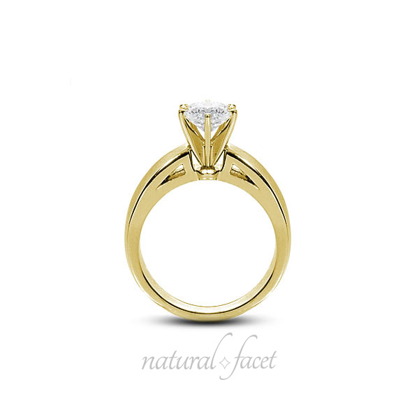 0-81-CT-J-VS2-Ideal-Round-AGI-Certify-Diamond-Yellow-Gold-Cathedral-Ring-4-4mm thumbnail 2