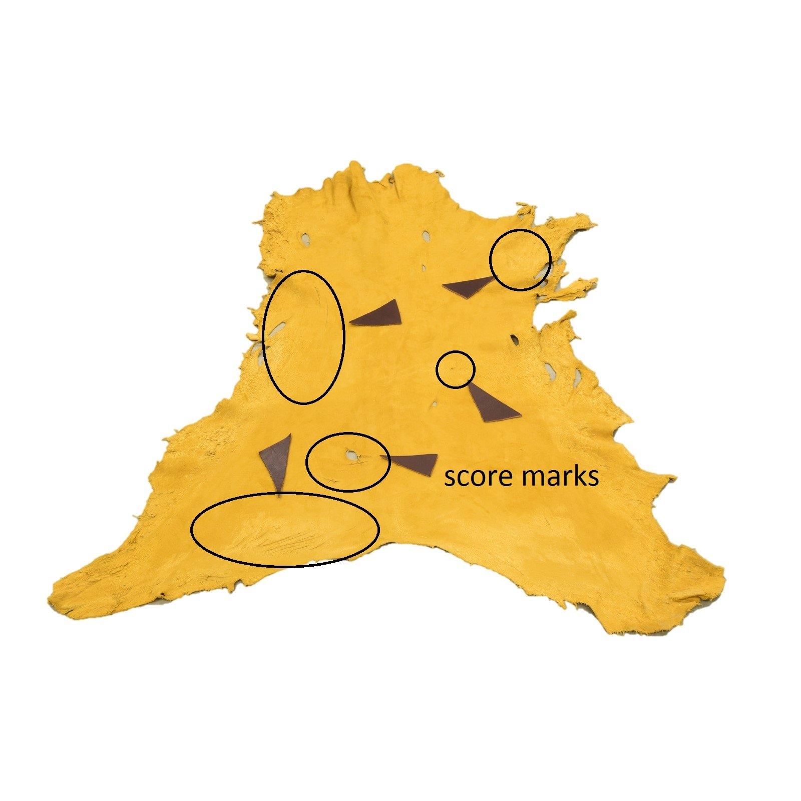 Gold Deerskin #73 Gold Buckskin leather hide Soft deerskin leather jewelry making leather craft supplies