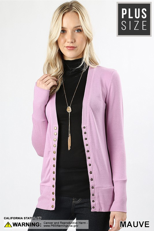 Long-Sleeve-Snap-Button-Sweater-Cardigan-w-Ribbed-Detail-1-Plus-Size