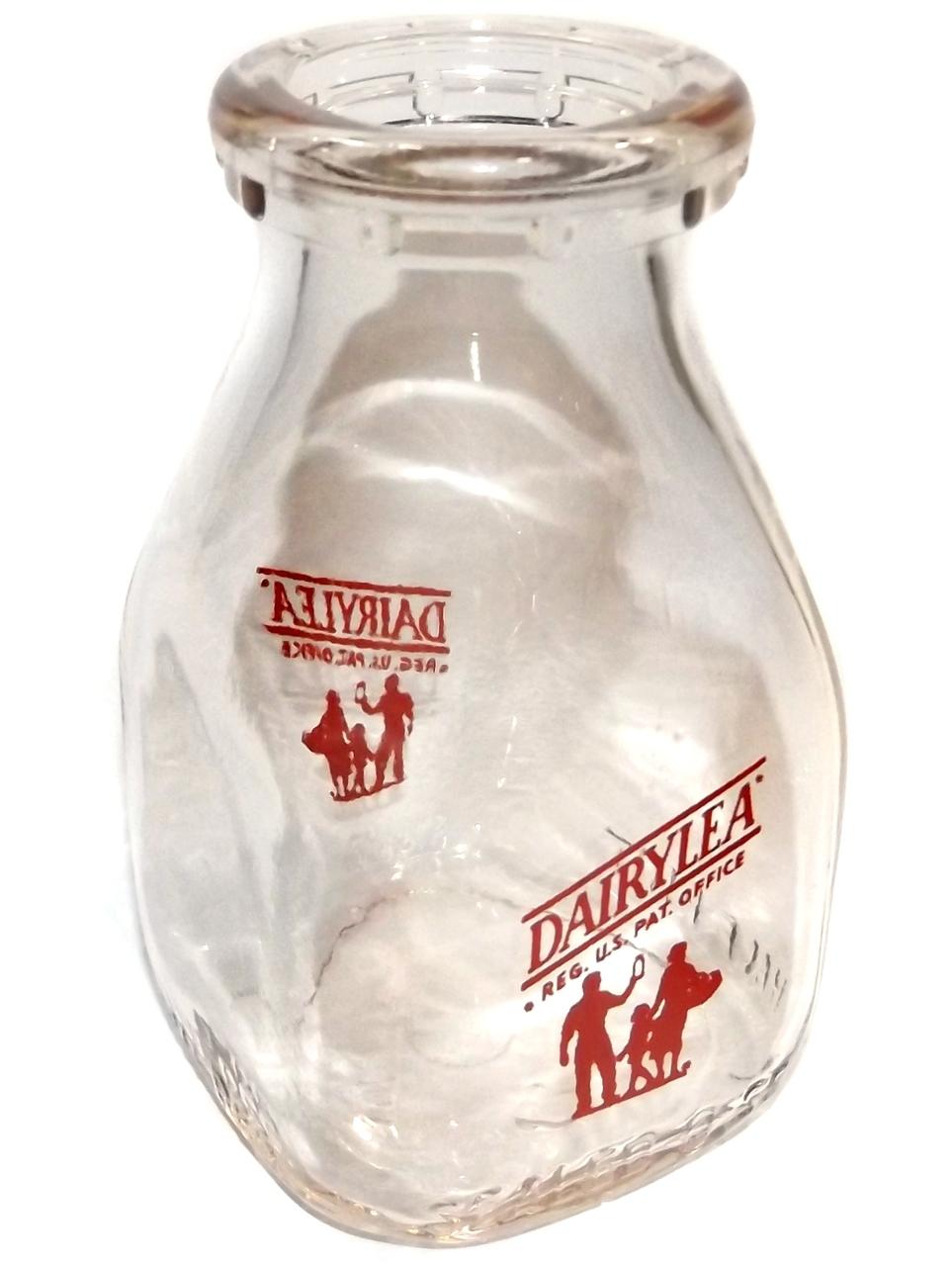 Vintage Dairylea Half Pint Square Glas