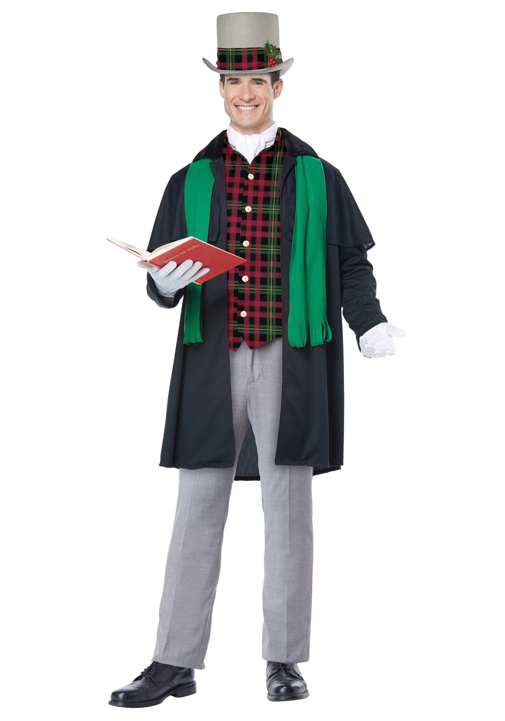 Christmas Caroling Costume.Details About Men S Holiday Christmas Caroler Costume Victorian Dickens Historical