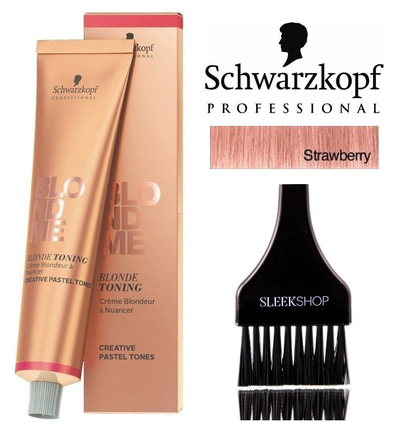 Details About Schwarzkopf Professional Blond Me Blonde Toning Strawberry W Sleek Brush 2oz