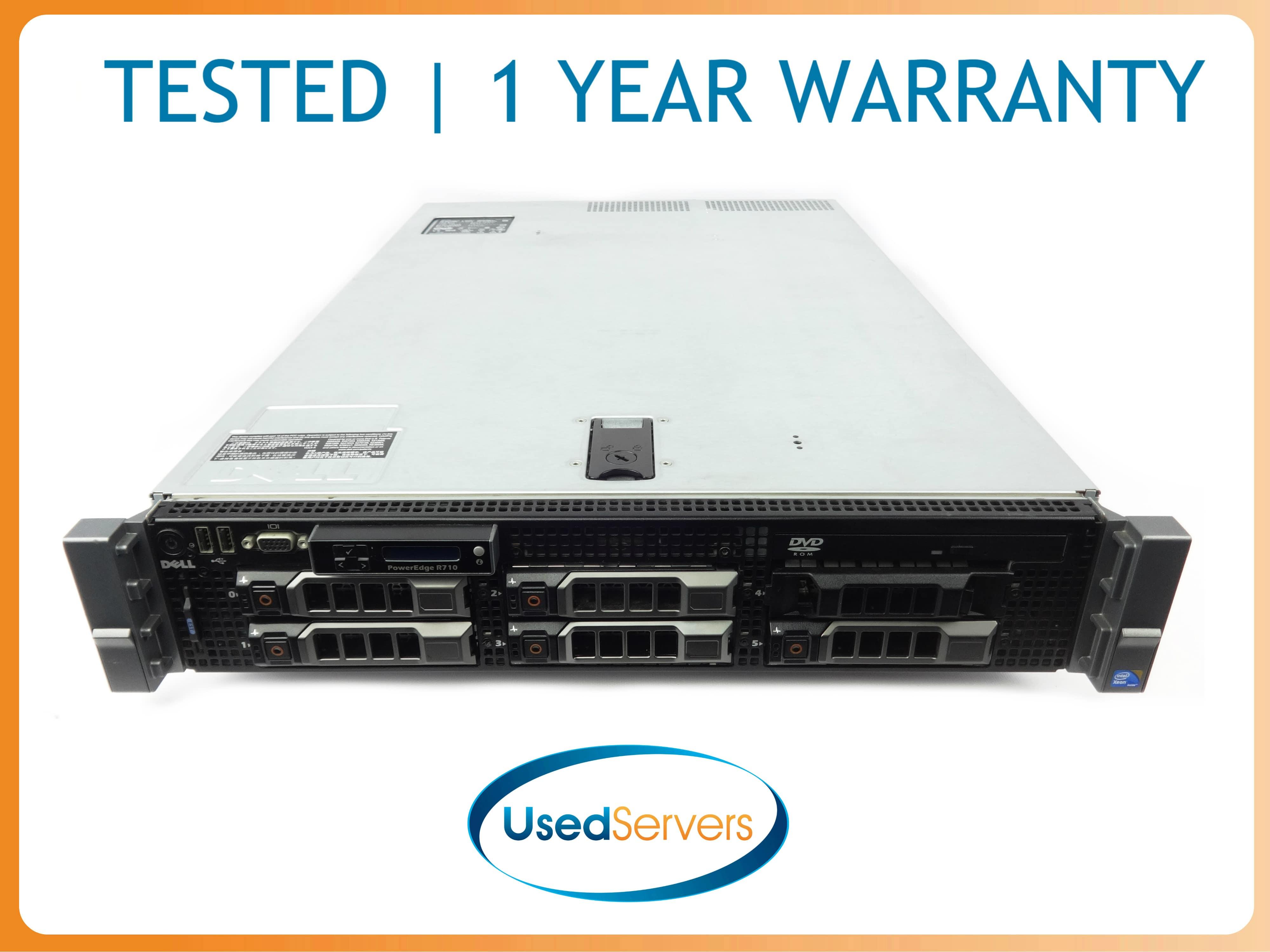 Dell PowerEdge R710 Virtualization Server 2.8ghz 12-Core Perc6i 2TB 48gb