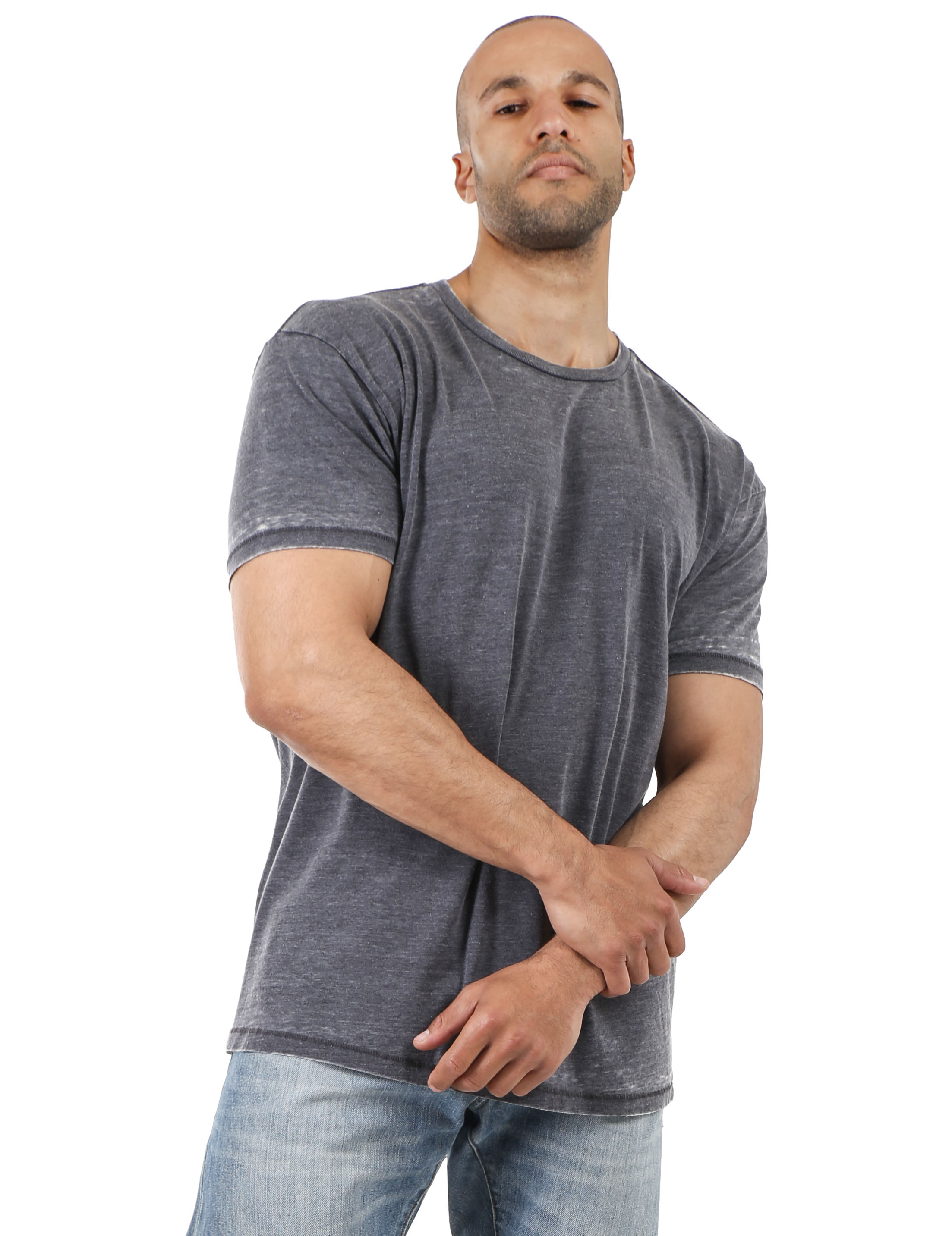 Mens-Vintage-T-Shirts-Washed-Burnout-Fade-Short-Sleeve-Basic-Crew-Neck-Tee thumbnail 3