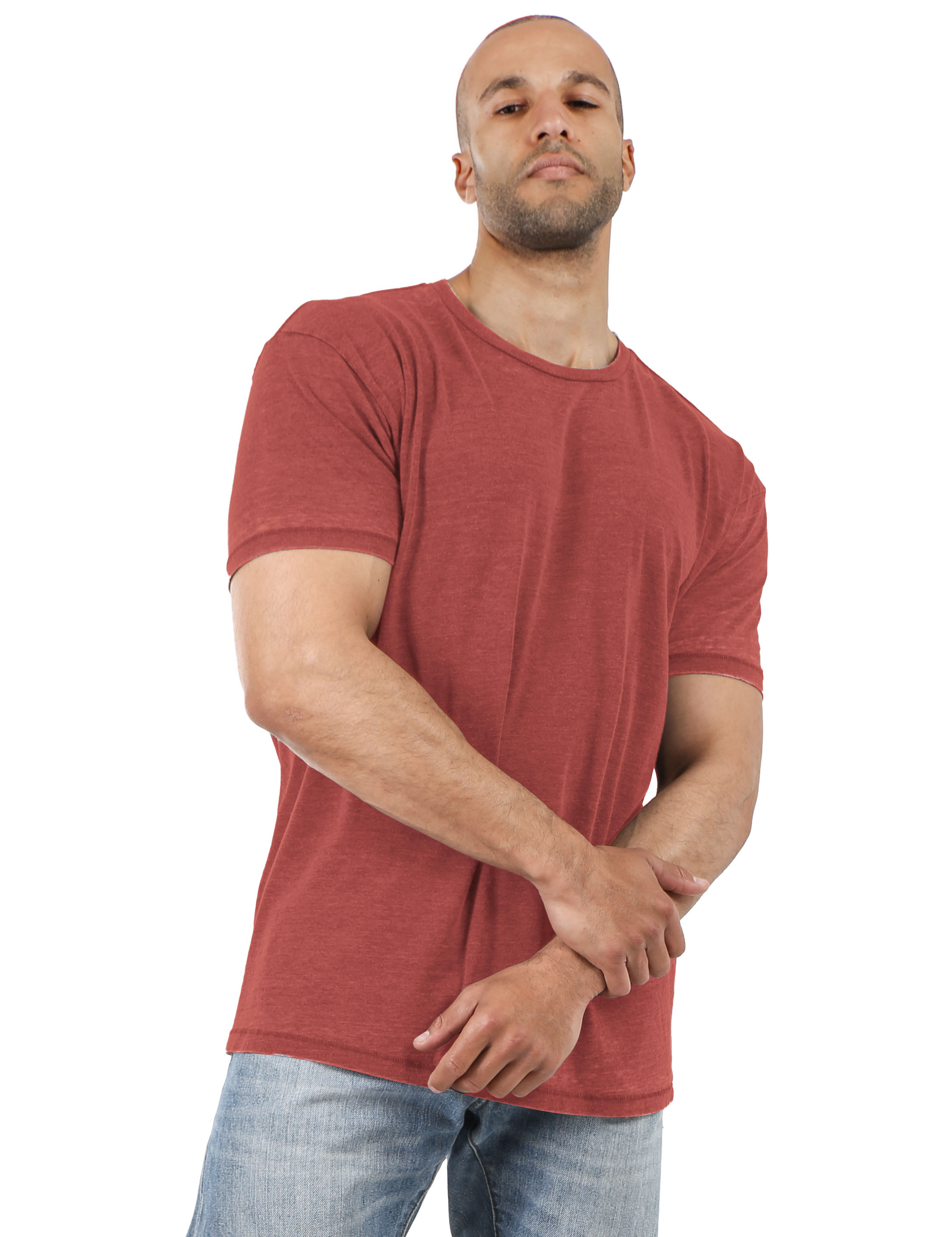 Mens-Vintage-T-Shirts-Washed-Burnout-Fade-Short-Sleeve-Basic-Crew-Neck-Tee thumbnail 8