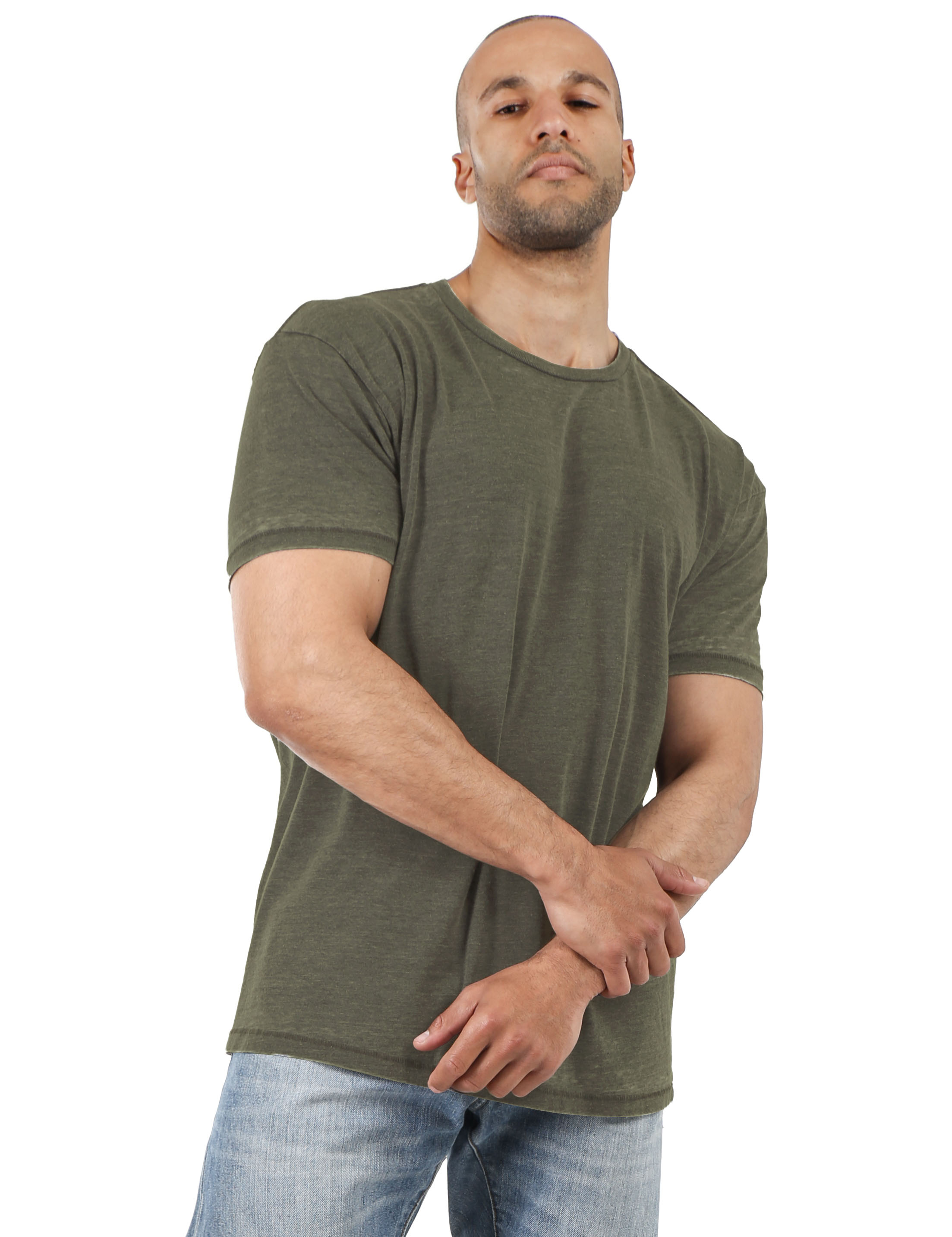 Mens-Vintage-T-Shirts-Washed-Burnout-Fade-Short-Sleeve-Basic-Crew-Neck-Tee thumbnail 13
