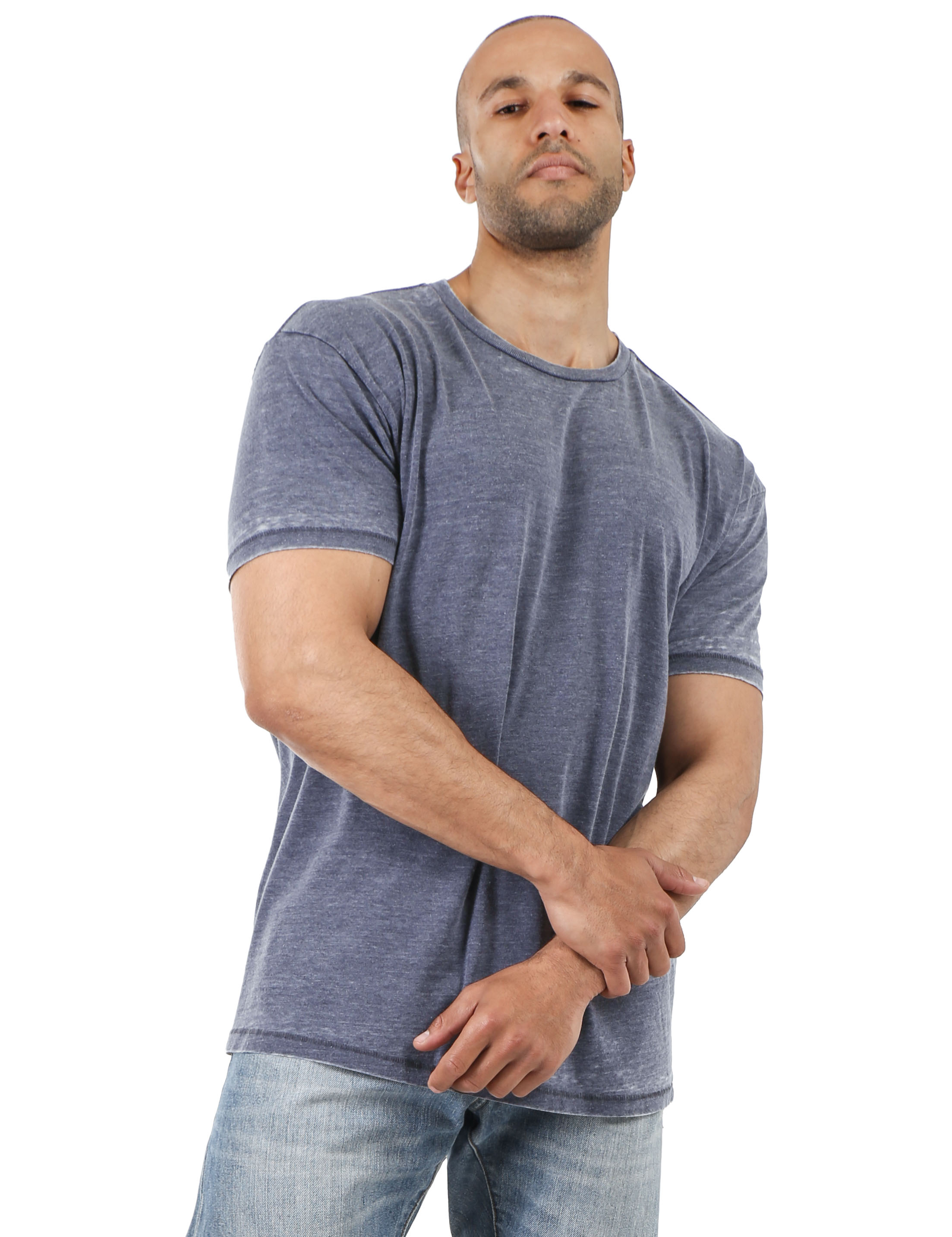 Mens-Vintage-T-Shirts-Washed-Burnout-Fade-Short-Sleeve-Basic-Crew-Neck-Tee thumbnail 18