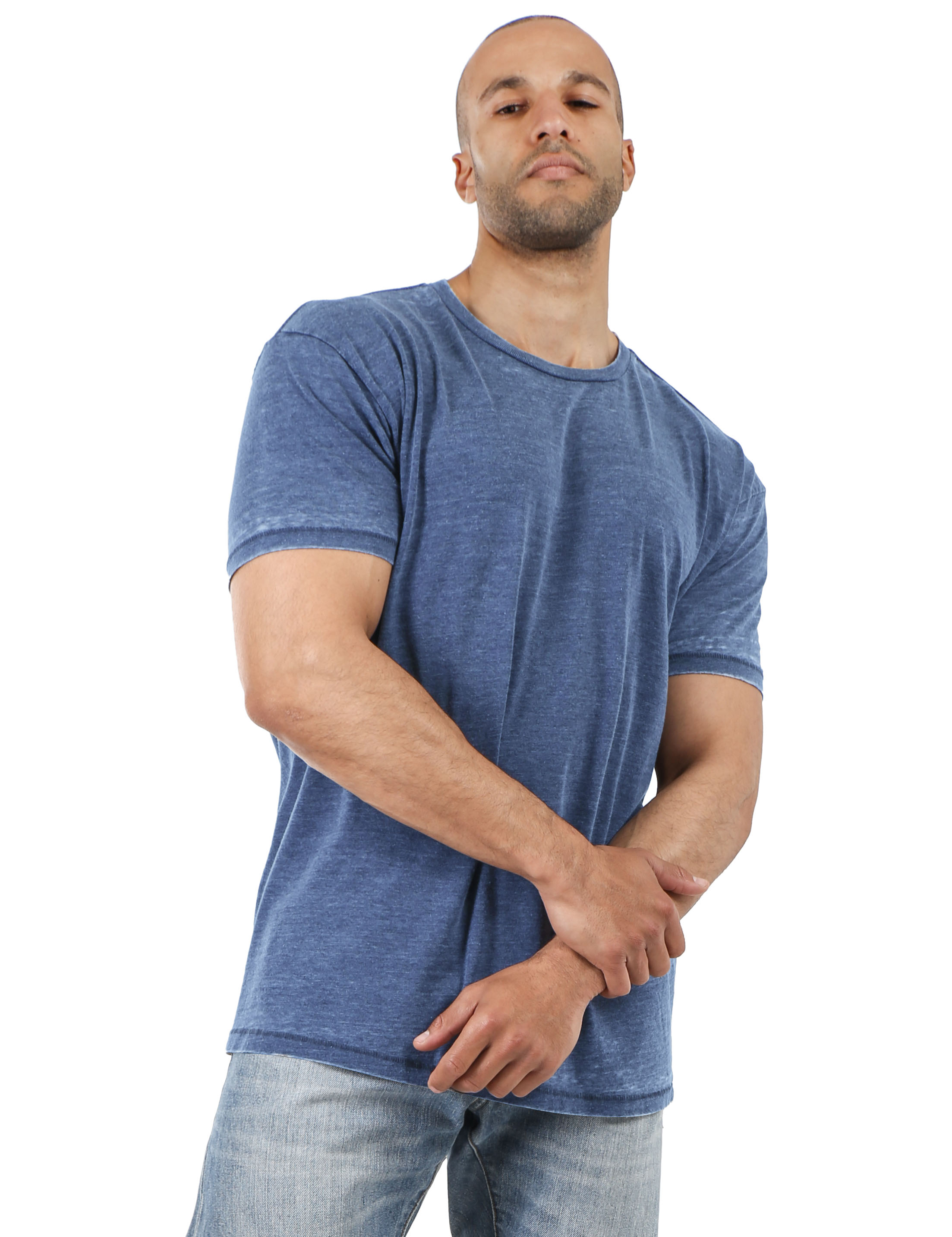Mens-Vintage-T-Shirts-Washed-Burnout-Fade-Short-Sleeve-Basic-Crew-Neck-Tee thumbnail 23