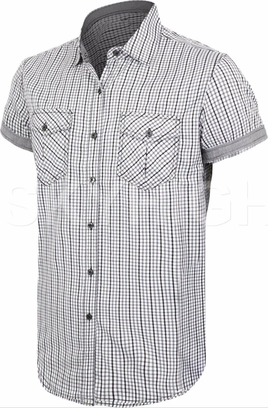 Mens BUTTON DOWN SHORT SLEEVE Tee Western T Shirts Summer Casual Top Collared
