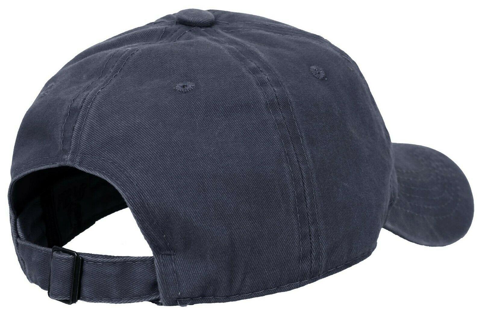 BASEBALL-CAP-Plain-Dad-Hat-Low-Profile-Vintage-Washed-Pigment-Adjustable thumbnail 5