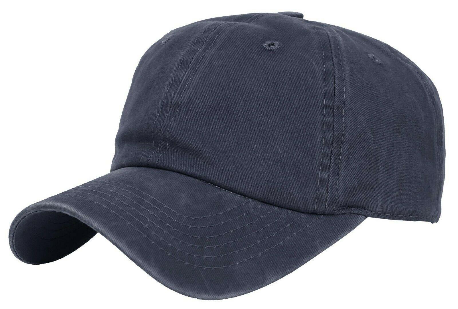BASEBALL-CAP-Plain-Dad-Hat-Low-Profile-Vintage-Washed-Pigment-Adjustable thumbnail 4
