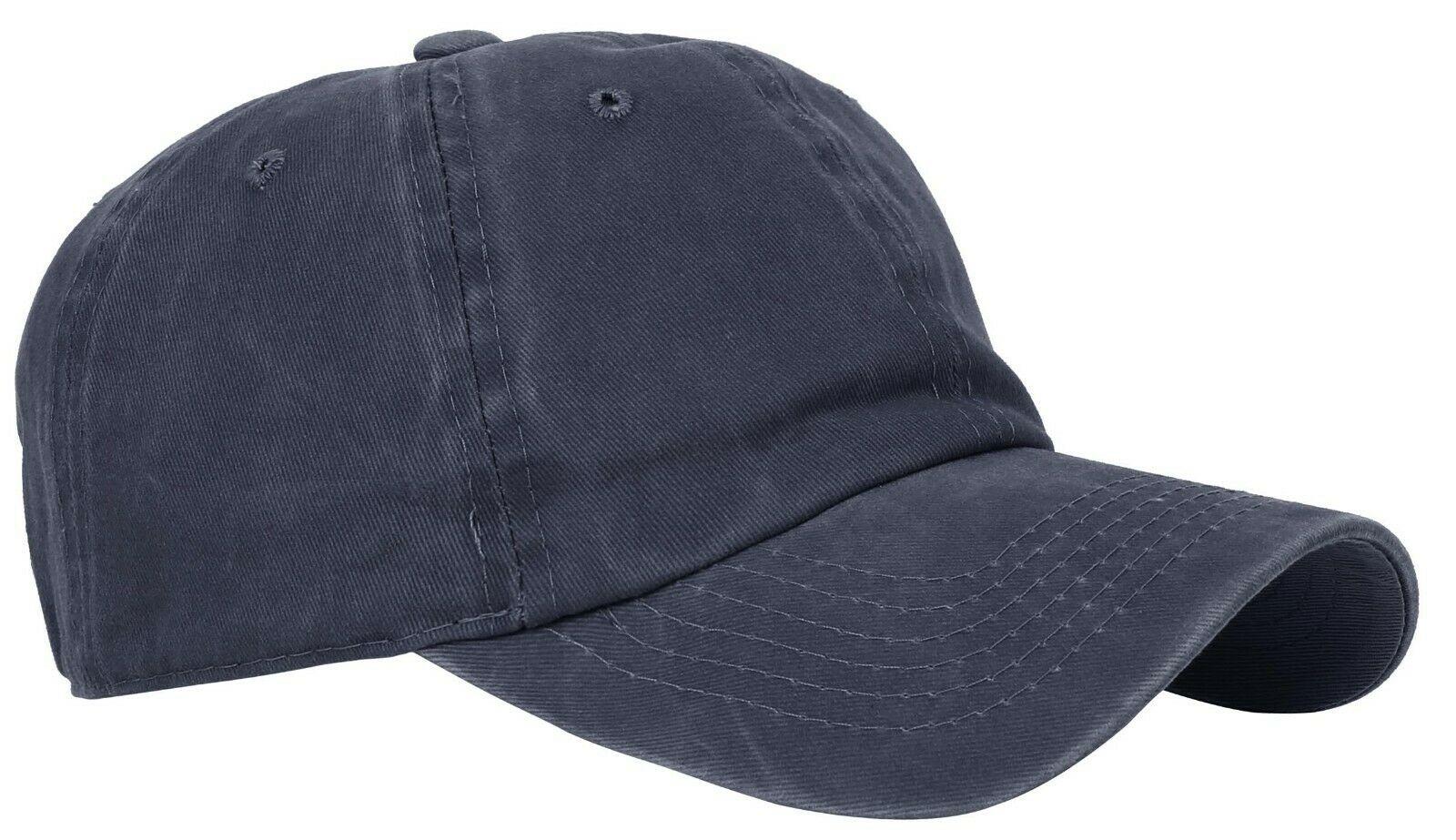 BASEBALL-CAP-Plain-Dad-Hat-Low-Profile-Vintage-Washed-Pigment-Adjustable thumbnail 3