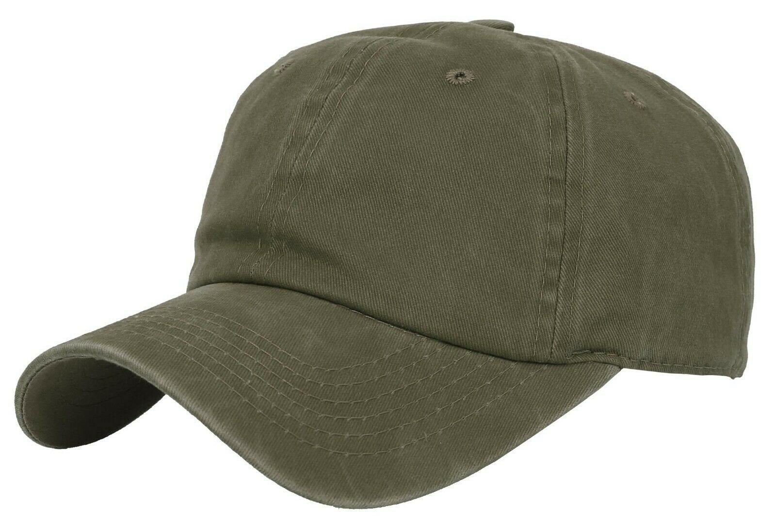 BASEBALL-CAP-Plain-Dad-Hat-Low-Profile-Vintage-Washed-Pigment-Adjustable thumbnail 8