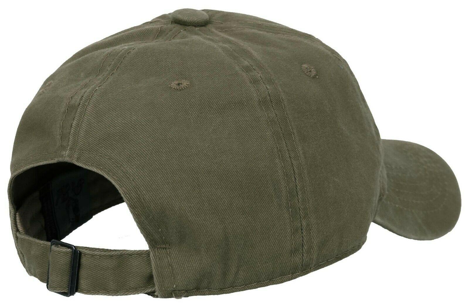 BASEBALL-CAP-Plain-Dad-Hat-Low-Profile-Vintage-Washed-Pigment-Adjustable thumbnail 9