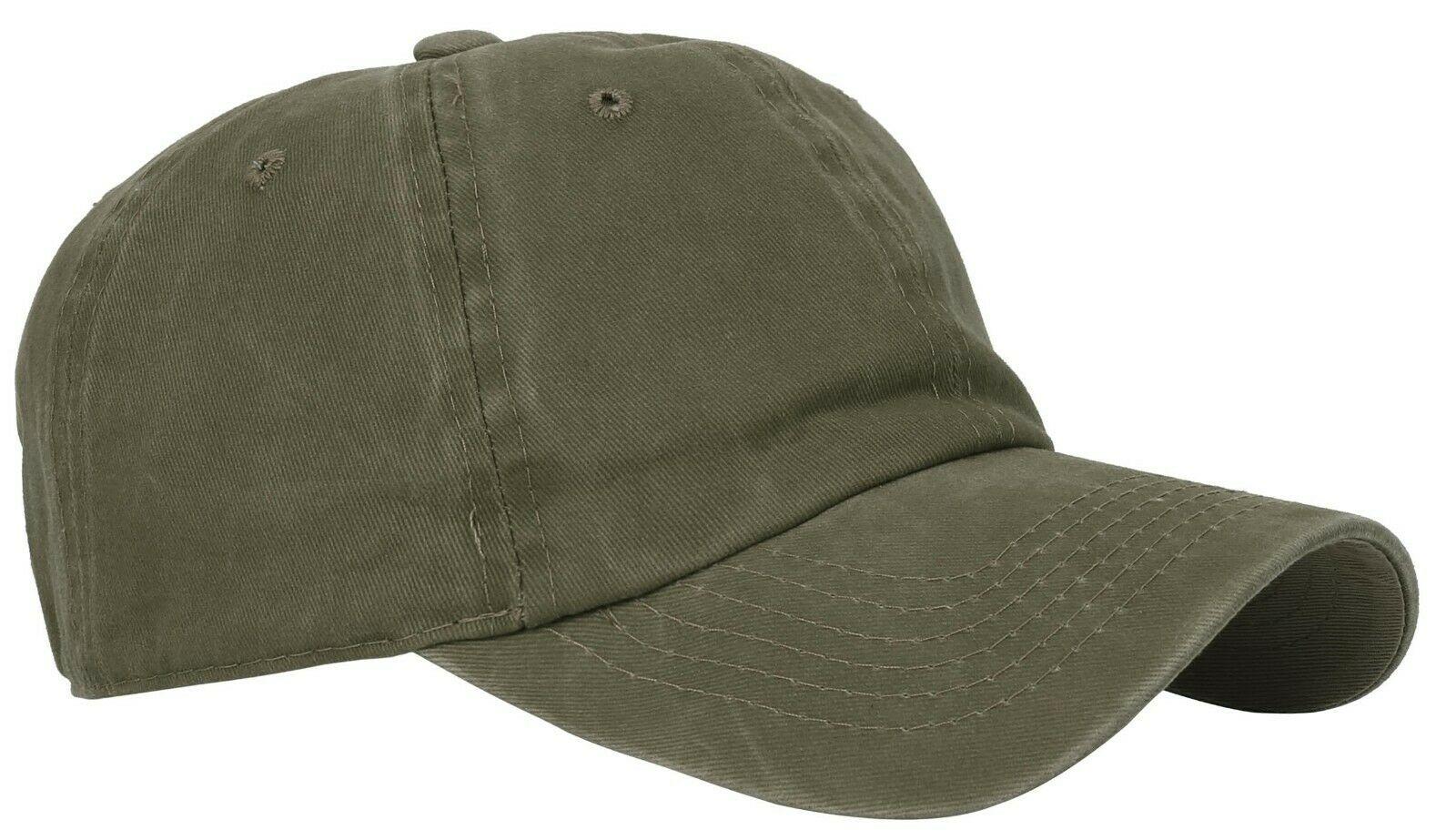 BASEBALL-CAP-Plain-Dad-Hat-Low-Profile-Vintage-Washed-Pigment-Adjustable thumbnail 7